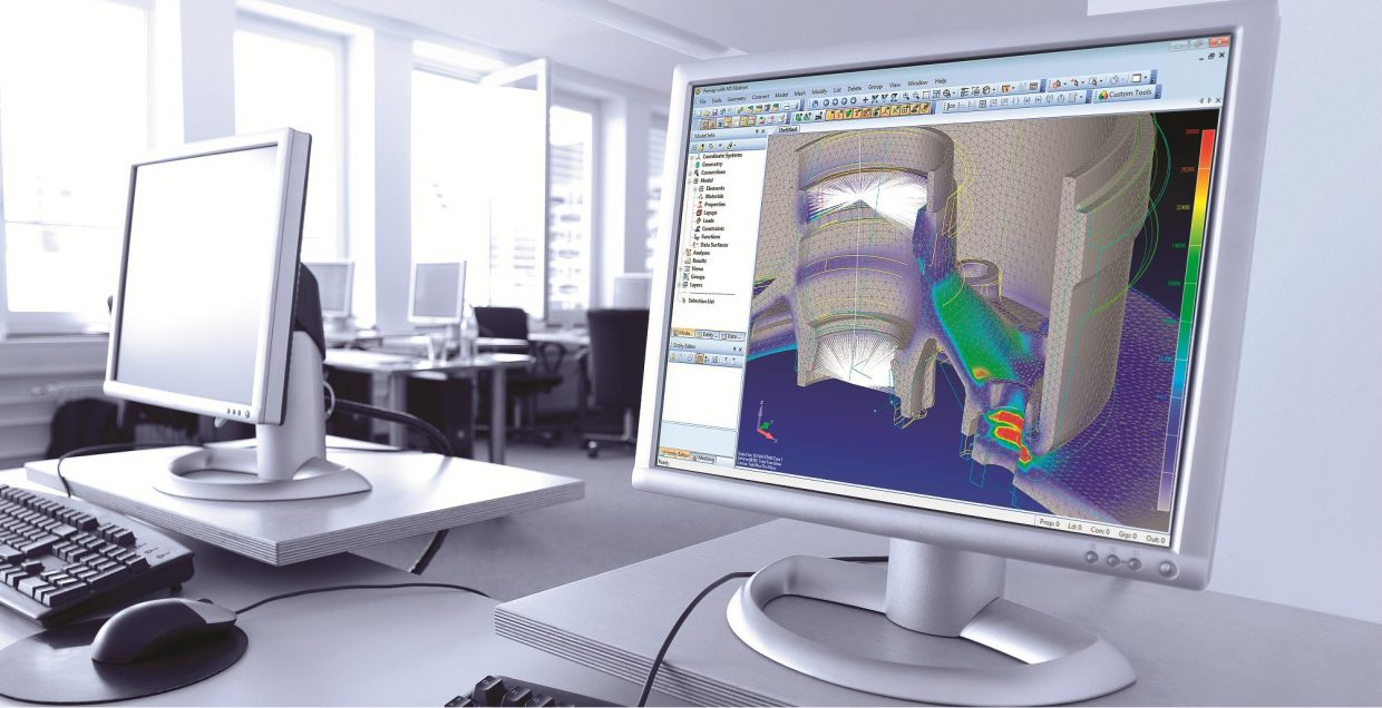 screen simulation NXnastran Femto